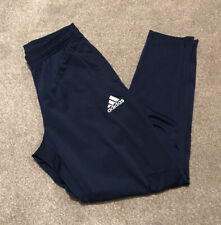 Mens Adidas Tracksuit Bottoms Zip Ankle Blue Size Small - NEW WITHOUT TAGS!