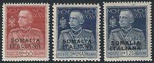 1925-26 Somalia Giubileo del Re d. mista SL(MNH) Cat Sass 68+70+72 € 35,00
