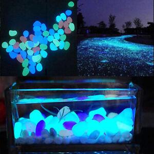 10Pcs Luminous Glowing Artificial Stone Aquarium Fish Tank Garden Ornament