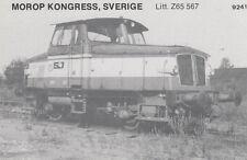 AK UNREAD Morop Congress Sweden litt. Z65 567 Baden Model järnvägs (G2576)