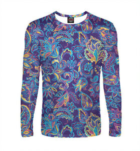 T-shirt with purple Paisley pattern beautiful ornament All over print Buta boteh