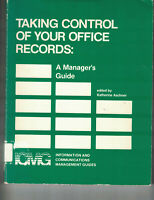 Taking Control of Your Office Records - Katherine Aschner (SC, 1983, 1st Ed)
