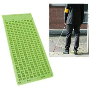 3 Styles Plastic Braille Writing Slate with Stylus Braille Learning Accessory