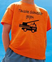 Geburtstagsshirt Feuerwehrauto Kinder T-Shirt 3 6 4 5 Geburtstag Drehleiter