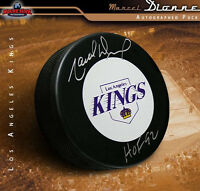 MARCEL DIONNE Signed & Inscribed Los Angeles Kings Puck