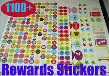 Libro del profesor recompensas Pegatinas 1100 niño niño los padres de la escuela gráfico trabajo bien hecho