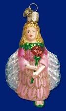 Fairy Ornament Glass Rose Petal Old World Christmas 10109 14