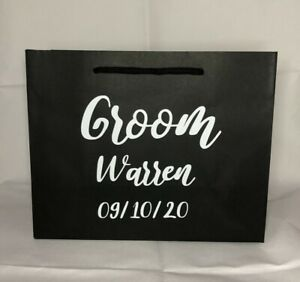 Personalised Wedding hen do Gift Bag Bride Groom Bridesmaid various colours