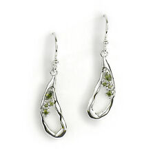 Jody Coyote Earrings JC36 new Geode GEO-0113-04 silver cubic zirconia cz dangle