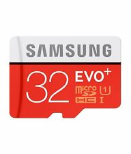Original New SAMSUNG EVO+ 32GB Micro SDHC C10 Flash Memory Card w/ SD Adapter