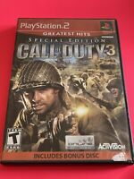🔥 SONY PS2 PlayStation Two 💯 WORKNG GAME 🔥 SE CALL OF DUTY 3 W/ DISC🔥