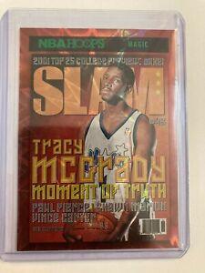 2020-21 NBA Hoops Tracy McGrady SLAM GREEN Explosion SP Rare Holo #/89