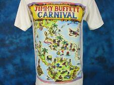 vintage 90s JIMMY BUFFETT CARNIVAL CONCERT T-Shirt SMALL/MEDIUM cartoon pop tour