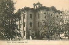 Michigan, MI, Greenville, Union School 1910's Postcard