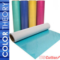 "Color Theory GLITTER Heat Transfer Vinyl HTV,  20"" x 5yd Roll - Best Colors Ever"