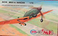 AICHI M6A1-k NANZAN MPM 1/72 Scale Model Airplane Kit # MP 72014