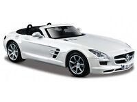 MERCEDES BENZ SLS AMG 1:24 Car Metal Models Miniatures Cars Die Cast Model