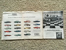 This is the Edsel Champion Welcomes First Edsel Brochure Flyer Pamphlet Folder