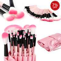 1/32pcs Professional Soft Make-up Eyebrow Shadow Makeup Brush Set Kit Case Pouch