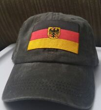 German Flag Hat Light Black Pigmented Dyed unstructured hat with Germany Flag