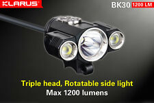Klarus BK30 Triple Head Bike Light 1280 lm Cree XM-L2 + 2x XP-G2 LEDs, US Seller