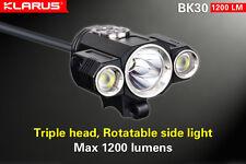 Klarus BK30 Triple Head Bike Light 1280 lm Cree XM-L2 + 2x XP-G2 LEDs, US Seller