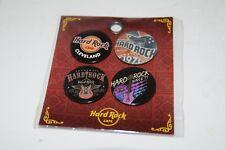 Hard Rock Cafe Cleveland Button 4 Pin Marketing Set NEW BO1330-CLV