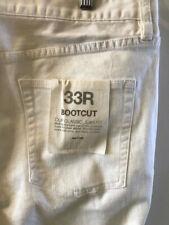 JCREW Classic Classic Jean Boot Cut WHITE Jeans 33R STYE 50458 NWT
