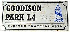 Everton FC Goodison Park Retro Aspecto ANUNCIO DE METAL de calle (BB)