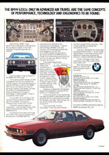 "1978 BMW 633 CSI COUPE AD A4 CANVAS PRINT POSTER 11.7""x8.3"""