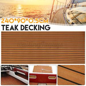 EVA 240*90CM Foam Teak Boat Marine Yacht Flooring Mat Decking Carpet Sea Pad