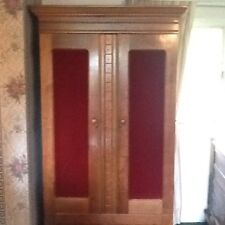 Antique Eastlake Victorian Armoire,solid Walnut Spoon Carvings