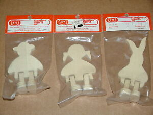 Vintage Amish Boy Girl & Bunny Wood Cut Out Craft Projects by Stanislaus Imports