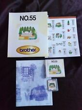 Brother Embroidery Card No 55 Gardening for Brother embroidery machines Rare