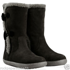 Redfoot Ladies Black Suede Toggle Mid Calf Womens Boots UK 3/Euro 36 RRP £80