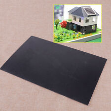 1pc 300mm 200mm Black Smooth Thickness 1mm ABS Plastic Flat Sheet Plate Quality
