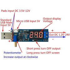 DC-DC 5V to 3.3V 9V 12V 24V USB Step UP/Down Power Module Boost Buck Converter
