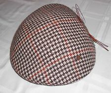 PERFECTLY ELEGANT! VINTAGE 50'S-60'S WOMEN'S WOOL HOUNDSTOOTH HAT WITH HAT PIN