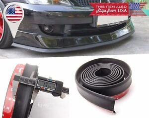 """1.3"""" Wide Rubber EZ Fit Bumper Lip Splitter Chin Spoiler for Subaru Mazda"""