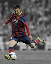 FC Barcelona LIONEL MESSI Glossy 8x10 Photo Spotlight Poster Football Print