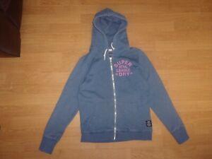 Superdry Athletic League Blue ladies hoodie size M