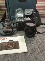 Pentax P30, SLR Camera, Vivitar Lens x2 Miranda Bag