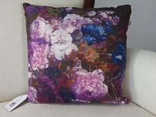 dutch decor, Kissen Riseco, Blumen, Dekokissen, mauve, pflaume, 45x45 cm