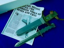Rare Us Vietnam Udt Non-magnetic Imperial Military Diving Diver's Fighting Knife
