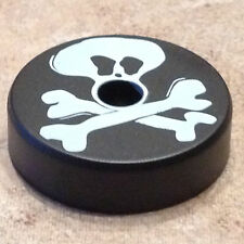 """BLACK """"JOLLY ROGER"""" 45 RPM TURNTABLE ADAPTER"""