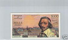 FRANCE 1000 FRANCS 5.9.1957 G.335 N° 0835615116 TRES RARE