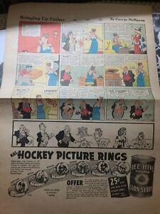 1949-51 BEE HIVE RINGS ADVERTISEMENT MAURICE RICHARD BILL DURNAN NHL HOCKEY RARE
