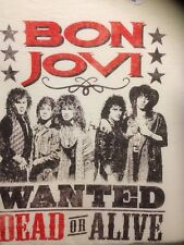 BON JOVI WANTED DEAD OR ALIVE T-SHIRT USA IMPORT  COTTON FRONT PRINT MACH WASH