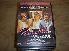 DVD CINEMA PAROLES et MUSIQUES DENEUVE LAMBERT 1984 104mn + Bonus