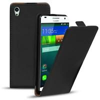 Flip Case Huawei G620s Hülle Pu Leder Klapphülle Handy Tasche Cover Schwarz